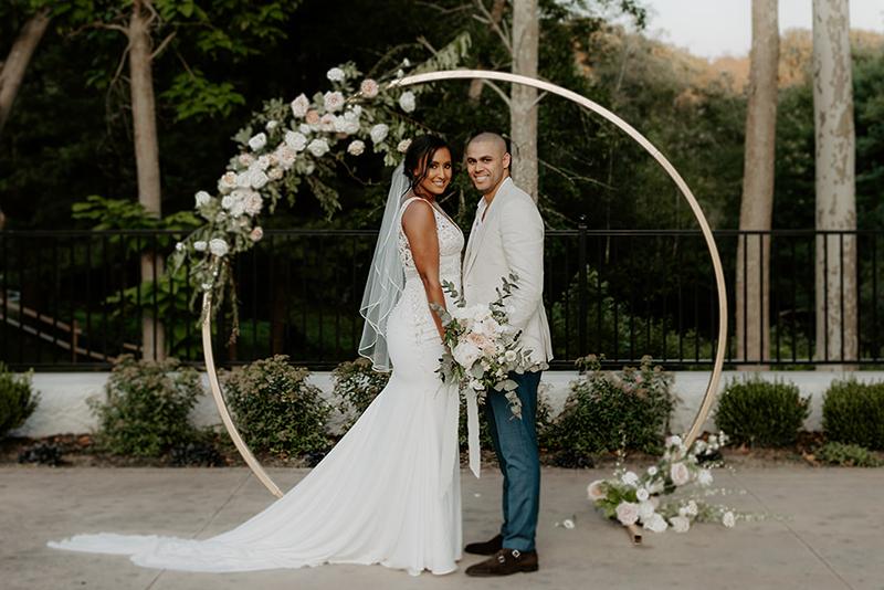 summer wedding ceremony at Grove
