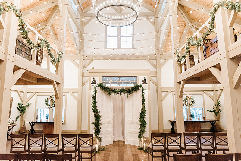 grove at briar barn inn indoor wedding